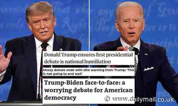 Presidential debate: World's press paints US as a laughing stock