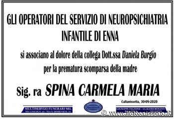 Sig.ra Spina Carmela Maria - il Fatto Nisseno