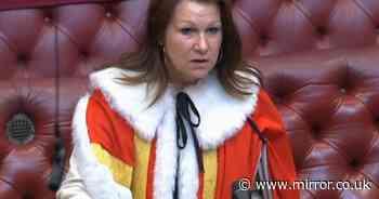 Baroness Sue Hayman wears fake fur robes as she backs Mirror campaign
