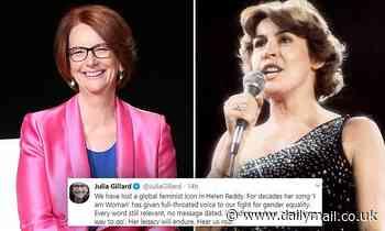 Julia Gillard reveals her favourite memories of Helen Reddy after feminist icon died aged 78