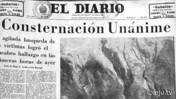 Viloco: Hoy se cumplen 50 años del accidente aéreo que conmovió a Bolivia y al mundo - eju.tv
