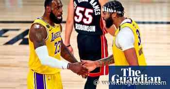 LA Lakers crush Miami Heat in NBA finals opener behind Anthony Davis's 34