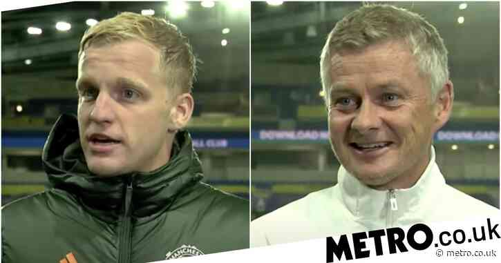 Ole Gunnar Solskjaer hints at position change for Donny van de Beek