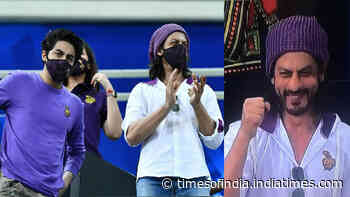 IPL 2020: Fans go crazy seeing Shah Rukh Khan watching KKR vs Rajasthan Royals' match in Dubai with son Aryan