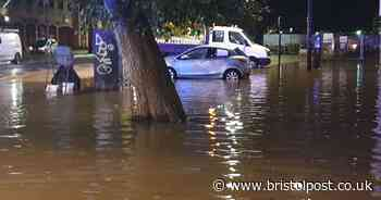 Bristol city centre under water in pictures