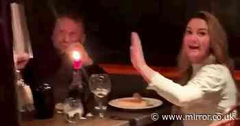 Man pulls hilarious prank on friend during first date - leaving woman mortified