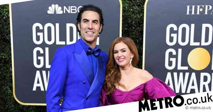 Isla Fisher shares ad of Borat wearing nothing but a mask and if that doesn't get your attention, we don't know what will