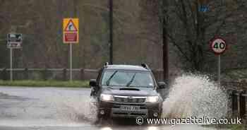 Heavy rain to hit Teesside as Met Office issues weather warning