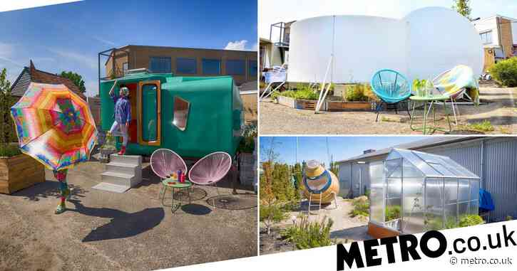You can now stay in an old grain silo and tiny greenhouse at this Dutch campsite