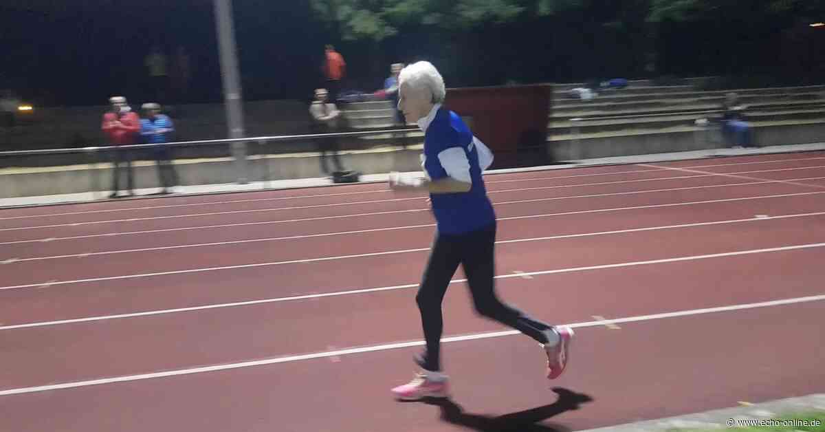 90-Jährige läuft Weltrekord in Pfungstadt - Echo Online