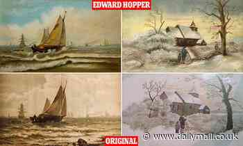 Edward Hopper 'copied other artist's paintings', British student discovers
