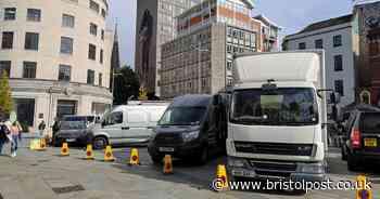 Filming for ITV drama underway in Bristol city centre