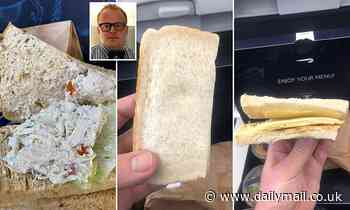 First Class ticket British Airways passengers furious over embarrassing in-flight  sandwiches