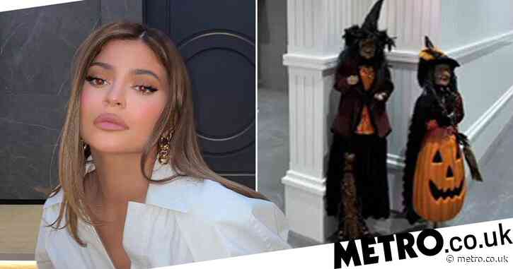 Kylie Jenner gives her mansion a Halloween makeover and Stormi is just having the best time