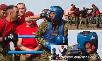 Russian soldiers fight to qualify for special forces crimson beret