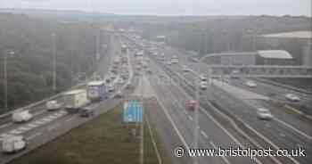M4 traffic live: Slow traffic as car breaks down