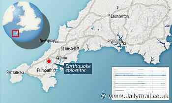 Houses shake as Cornwall is rocked by 15 earthquakes in two days
