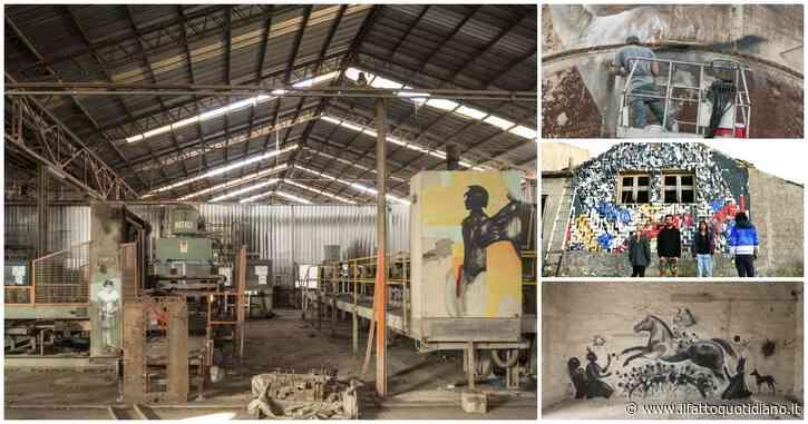 Ragusa, l'ex fabbrica di bitume diventa museo con le opere di 25 artisti con la pietra pece