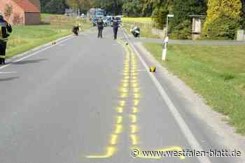 Motorradfahrer kracht in Anhänger - Westfalen-Blatt