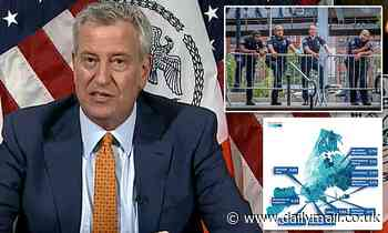 Bill de Blasio says NYPD officers who don't wear masks will 'face penalties'