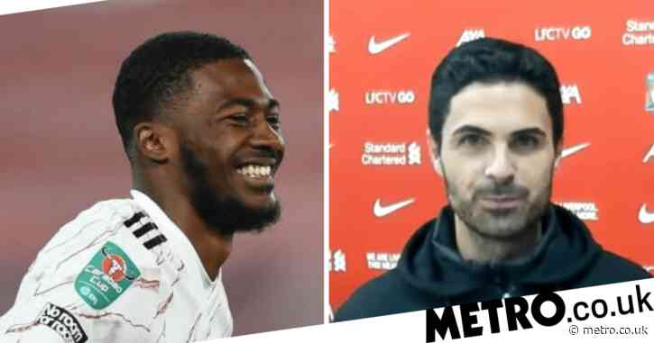 Mikel Arteta reveals what he told Ainsley Maitland-Niles after nonchalant spot-kick in penalty shootout win over Liverpool