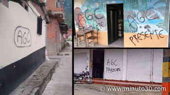 FOTOS: Cocorná, San Pedro y otros municipios antioqueños también amanecieron con grafitis del Clan del Golfo - Minuto30.com