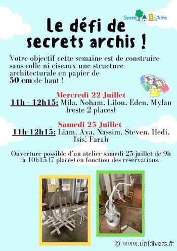 Défi architecture Association Secrets d'archis samedi 17 octobre 2020 - Unidivers