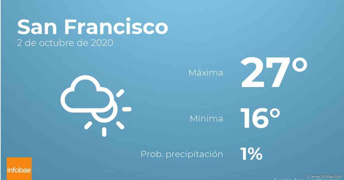 Previsión meteorológica: El tiempo hoy en San Francisco, 2 de octubre - infobae