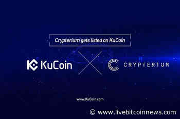 Crypterium (CRPT) Is Now Available At KuCoin Cryptocurrency Exchange Market - Live Bitcoin News