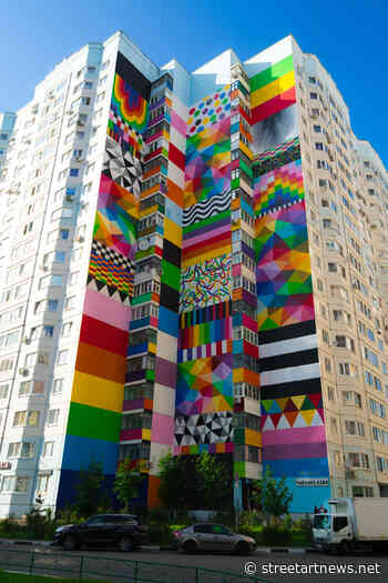 Okuda in Odintsovo, Russia for Urban Morphogenesis - StreetArtNews