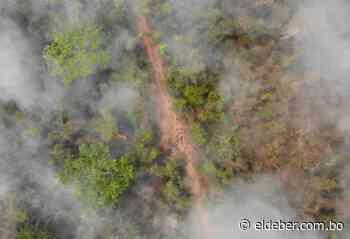 Más de 20 kilómetros de fuego en San Ignacio de Velasco preocupan al Gobierno nacional - EL DEBER