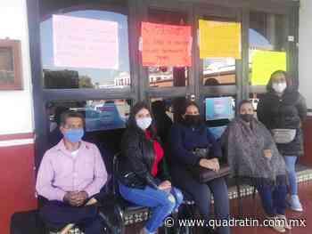 Se manifiesta Sutaspjem por pago tardío en Jiquilpan - Quadratín - quadratin.com.mx