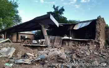 Habitantes de Coneto de Comonfort sufren todavía efectos de la inundación - El Sol de Durango