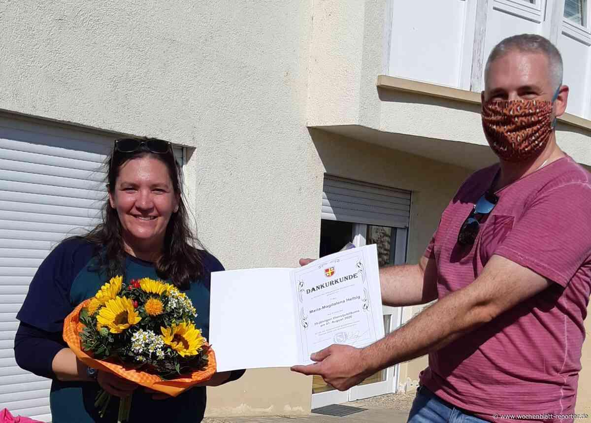 Gemeindekindergarten Niederkirchen: 25-Jähriges Dienstjubiläum von Maria Helbig - Wochenblatt-Reporter