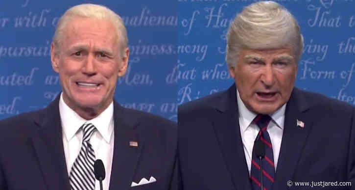 Alec Baldwin & Jim Carrey Face Off as Trump & Biden in 'SNL' Premiere - Watch!