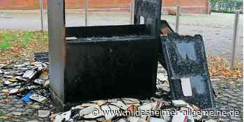 Randale in Alfeld: Brände, Graffito, beschädigter Pavillon - www.hildesheimer-allgemeine.de