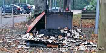Brandstifter zerstören Bücherschrank mitten in Alfeld - www.hildesheimer-allgemeine.de