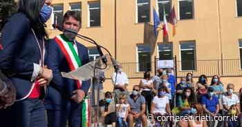 Lucia Azzolina, piove dentro la scuola di Fiano Romano appena inaugurata dal ministro dell'istruzione - Corriere di Rieti