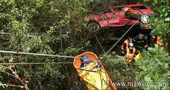 Saint-Sernin-sur-Rance. Après une chute de 25 m, les trois occupants du véhicule s'en sortent indemnes - Millavois.com