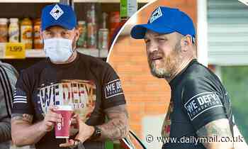 Tom Hardy steps out for supplies after actor becomes frontrunner to replace Daniel Craig as Bond - Daily Mail