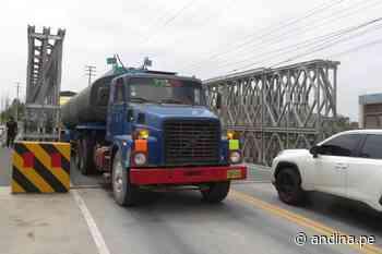 Reabren tránsito en puente Coishco garantizando conexión con norte del país - Agencia Andina
