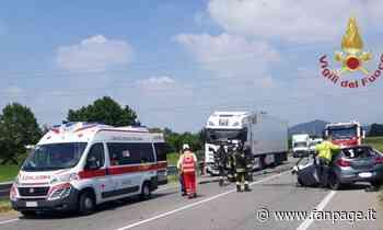 Schianto frontale tra camion e auto a Bolgare: morto un uomo - Fanpage.it