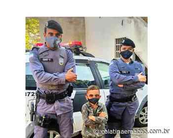 Pequeno e grande amigo da PM faz vista aos policiais de Ecoporanga - Colatina em Ação