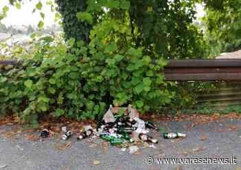 Venegono Superiore, decine di birre e rifiuti in via San Rocco - Varesenews