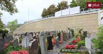 So sieht die neue Friedhofsmauer in Rietheim-Weilheim aus - Schwäbische