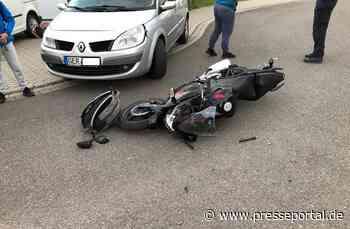 POL-PDLD: Rheinzabern - Motorradfahrer verletzt sich bei Zusammenstoß - Presseportal.de