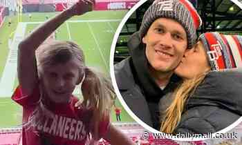 Gisele Bundchen and Tom Brady's seven-year-old daughter, Vivian, excitedly cheers on her dad - Daily Mail