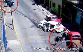 [Video] Se enfrentan a balazos en pleno centro de Yuriria - Noticias Vespertinas