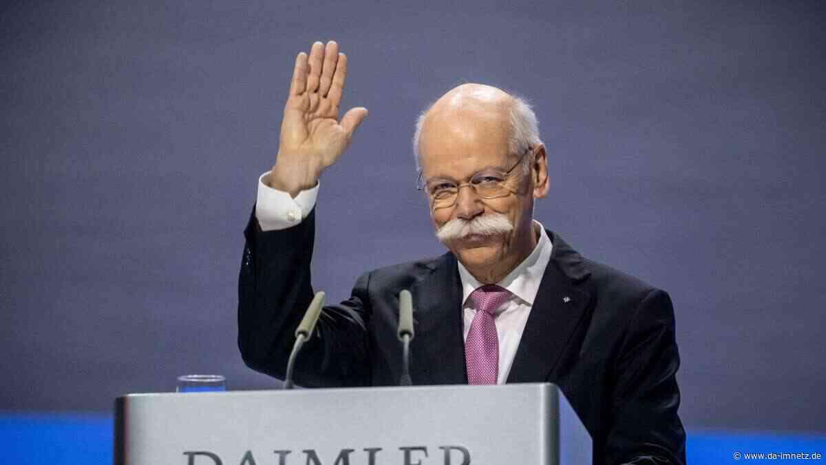 Trotz Daimler-Krise: Fürstliche Rente von Dieter Zetsche muss Mitarbeitern wie Hohn vorkommen - DA-imNetz.de