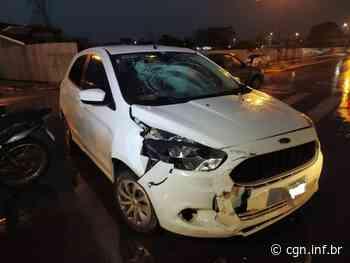 Motociclista fica ferido após colisão com carro no Jardim Concordia, em Toledo - CGN